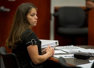 Daisy Bram in Court | Sac Bee Photo by Randy Pench