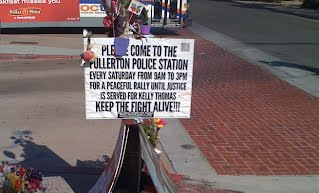 Rally For Kelly Thomas Against Fullerton Police Department